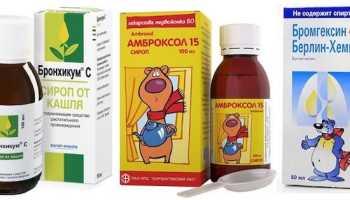Препараты при сухом кашле у детей список